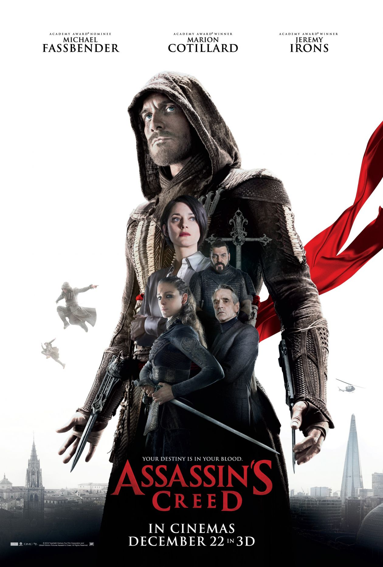 ARIANE LABED / MARION COTILLARD actresses actrices comédiennes / 2016 : Assassin's Creed / Justin Kurzel / MOVIE POSTER / TEASER / AFFICHE FILM