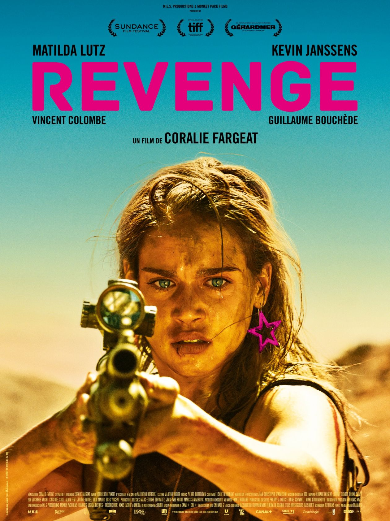 Matilda Anna Ingrid Lutz Italian actress / Revenge : Jennifer / Coralie Fargeat director / 2017 / Movie Poster / Affiche film