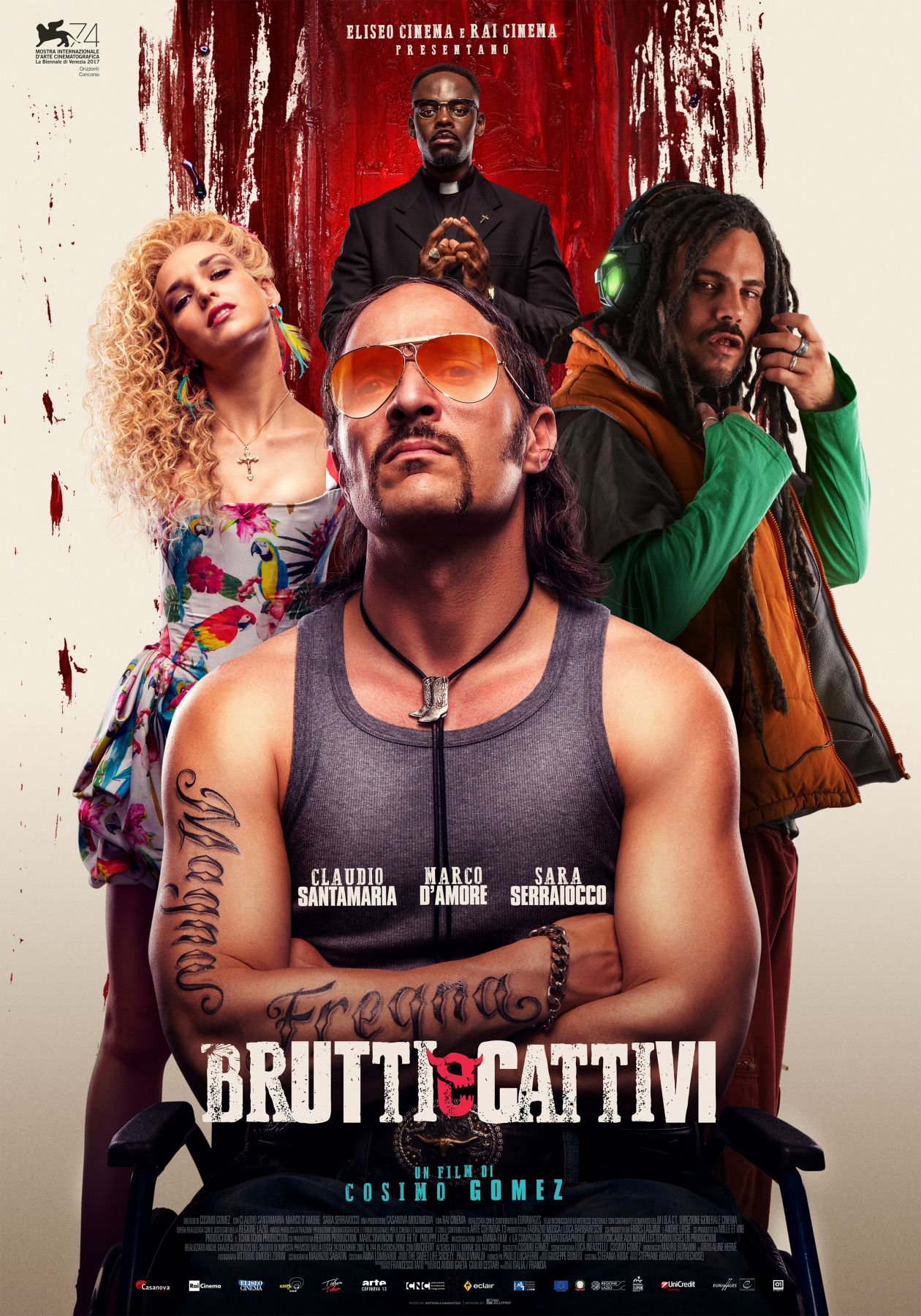 Sara Serraiocco actress | Brutti e cattivi / Cosimo Gomez 2017 Movie Poster Affiche film