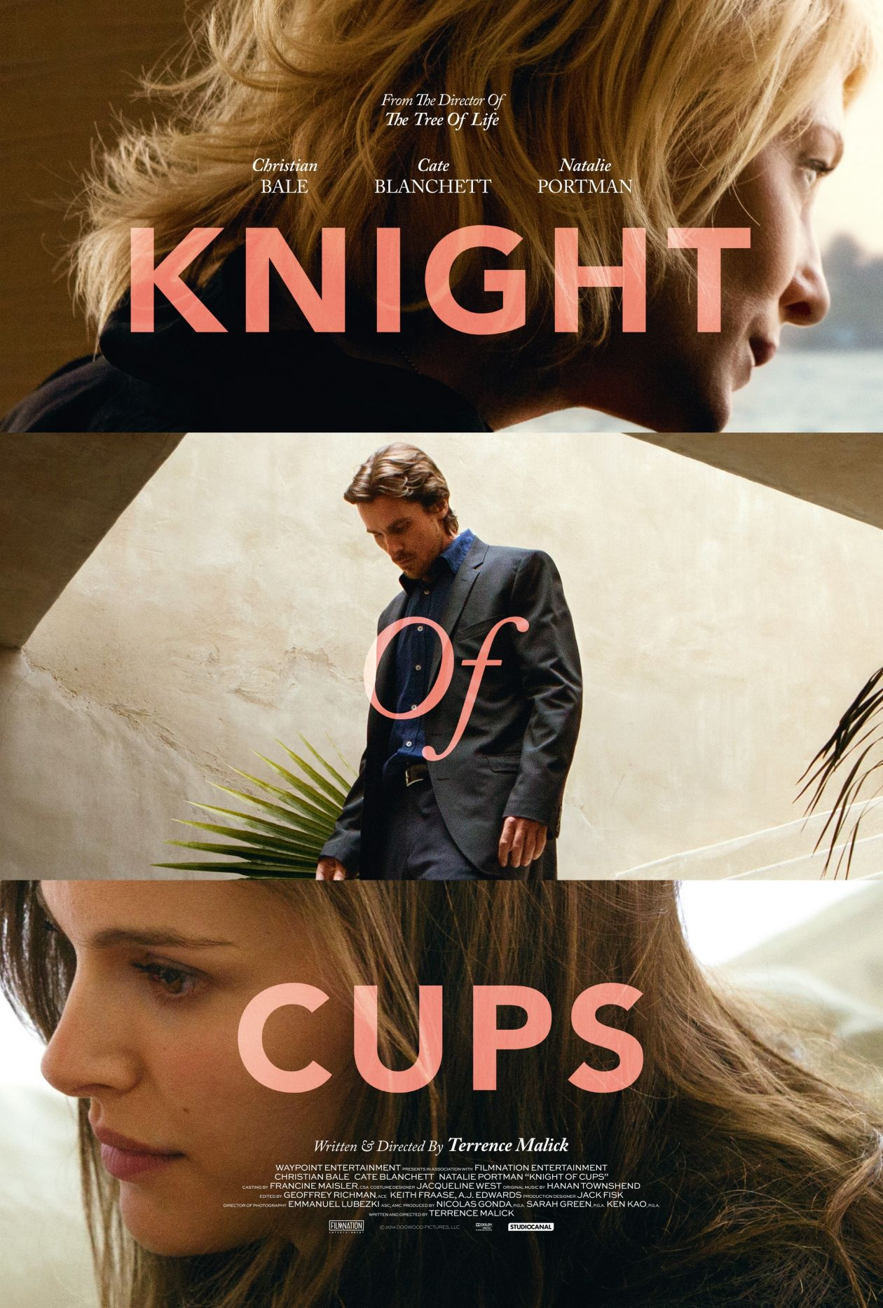 Cate Blanchett / Natalie Portman  Knight of Cups | Terrence Malick 2015 Movie Poster / Affiche du film