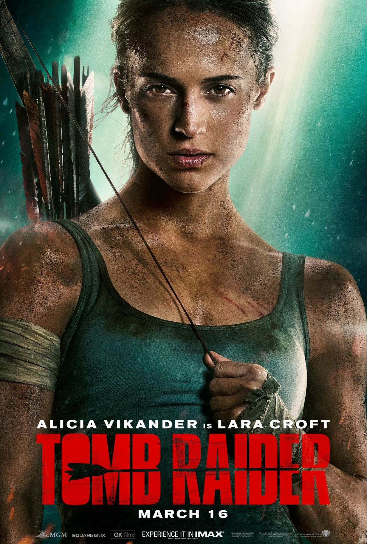 Alicia Vikander actress / Lara Croft / Tomb Raider 2018 Movie Poster / Affiche film