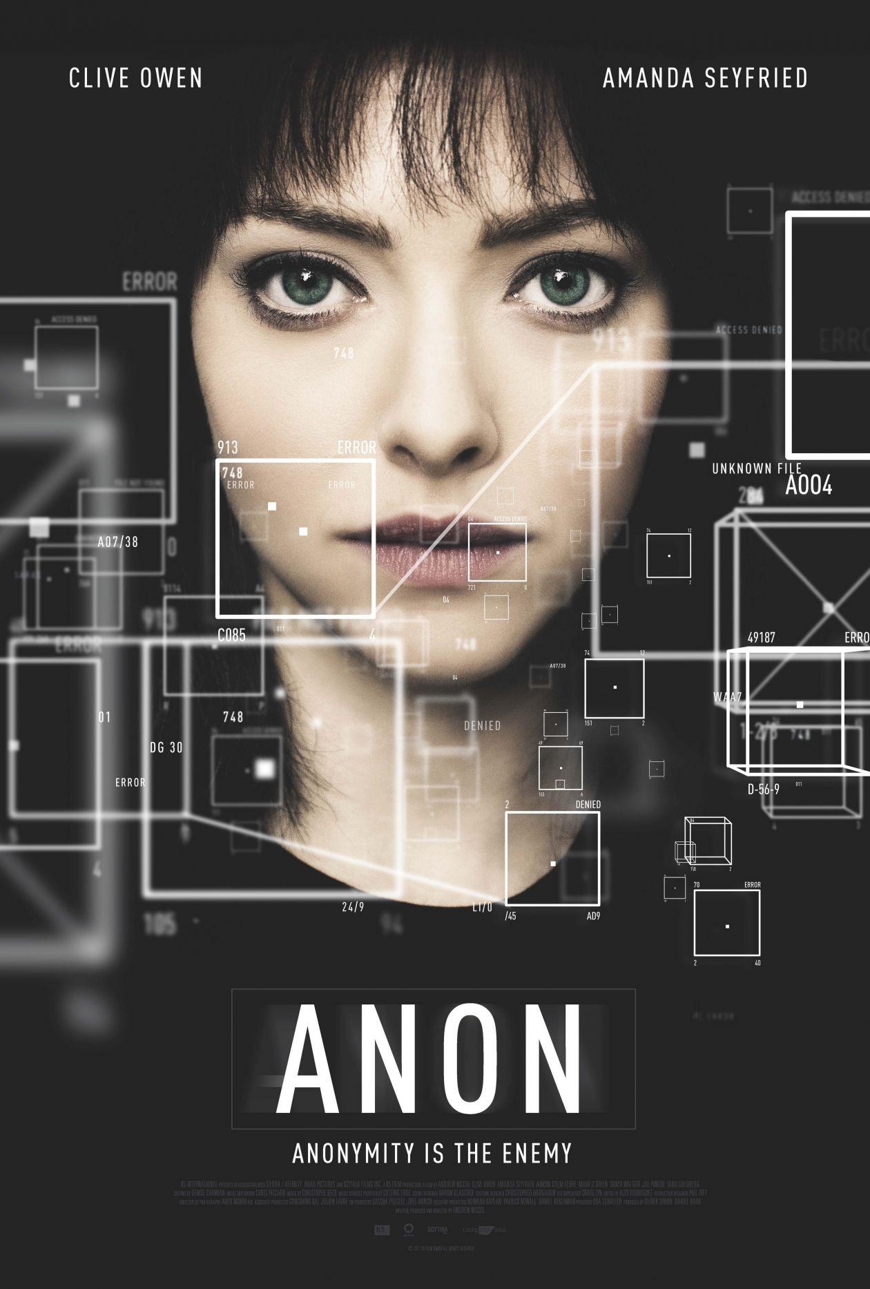 Amanda Seyfried | ANON | Netflix Movie Poster Affiche film