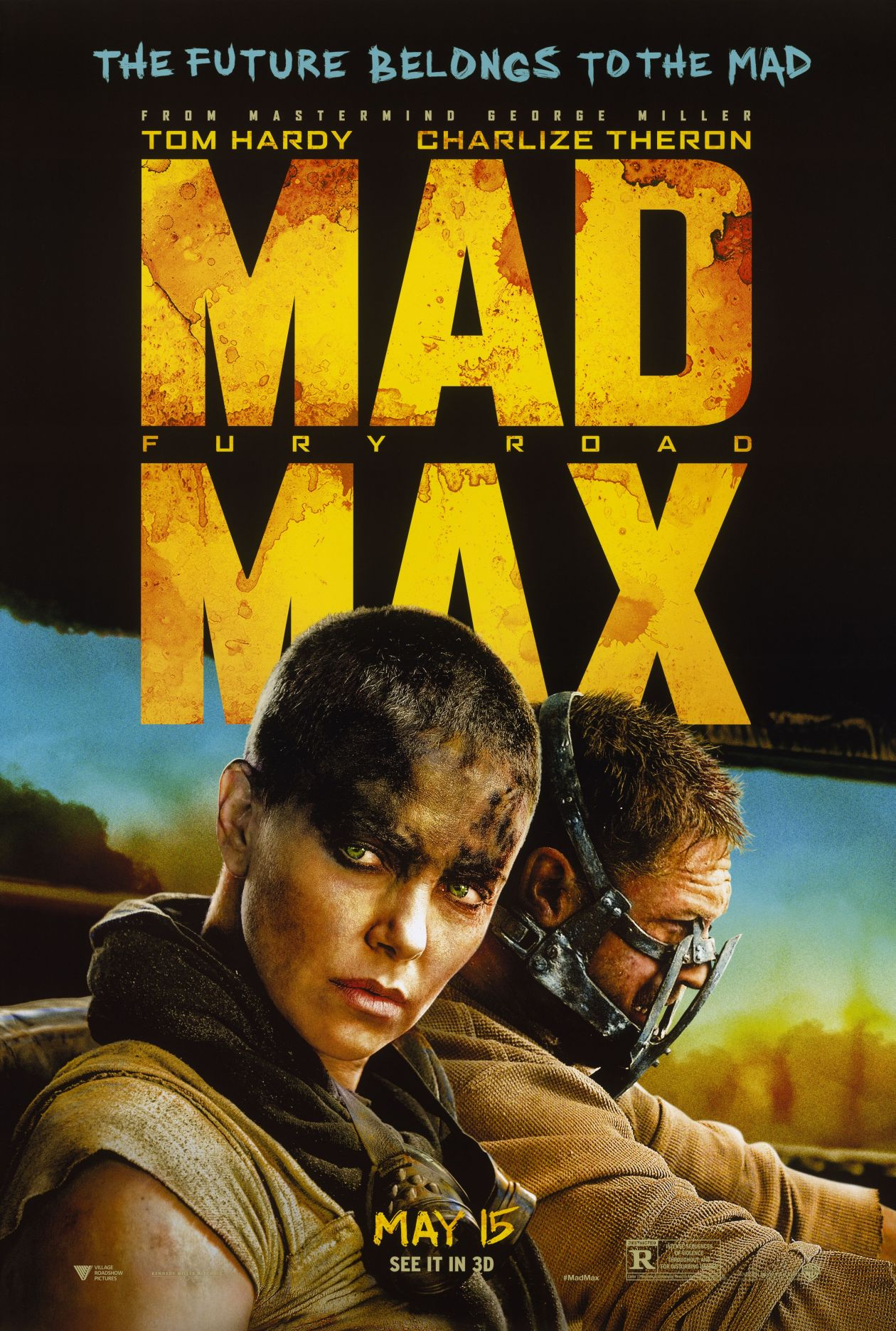 Charlize Theron actress   Mad Max: Fury Road / Georges Miller 2015 Movie Poster Affiche film