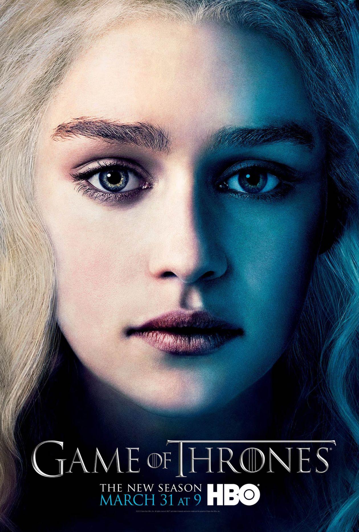Emilia Clarke actress   Queen Daenerys Targaryen / Game of Thrones / Movie Series Poster Affiche série