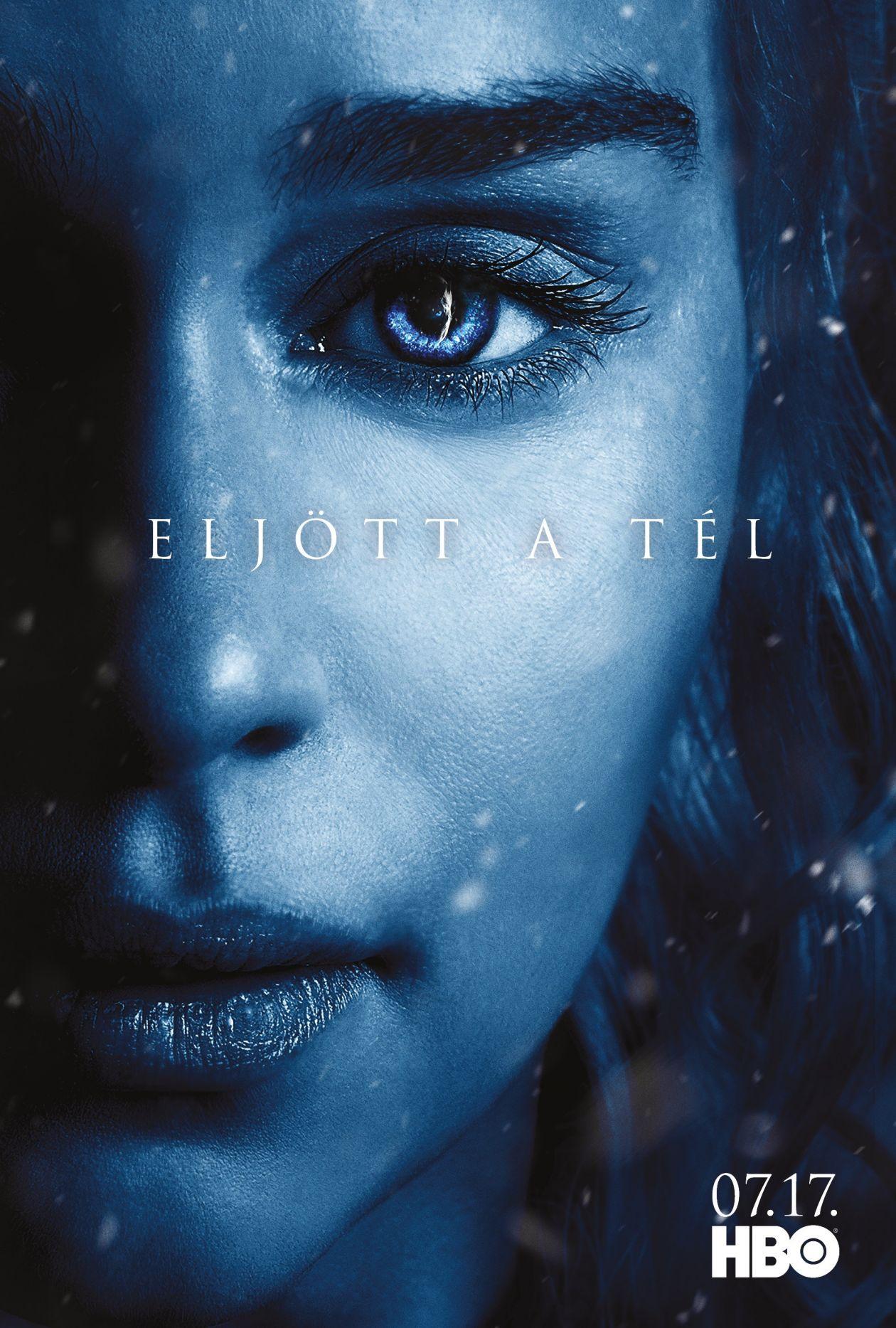 Emilia Clarke actress   Queen Daenerys Targaryen / Game of Thrones / Movie Series Season 7 Poster Affiche série Saison 7 2017