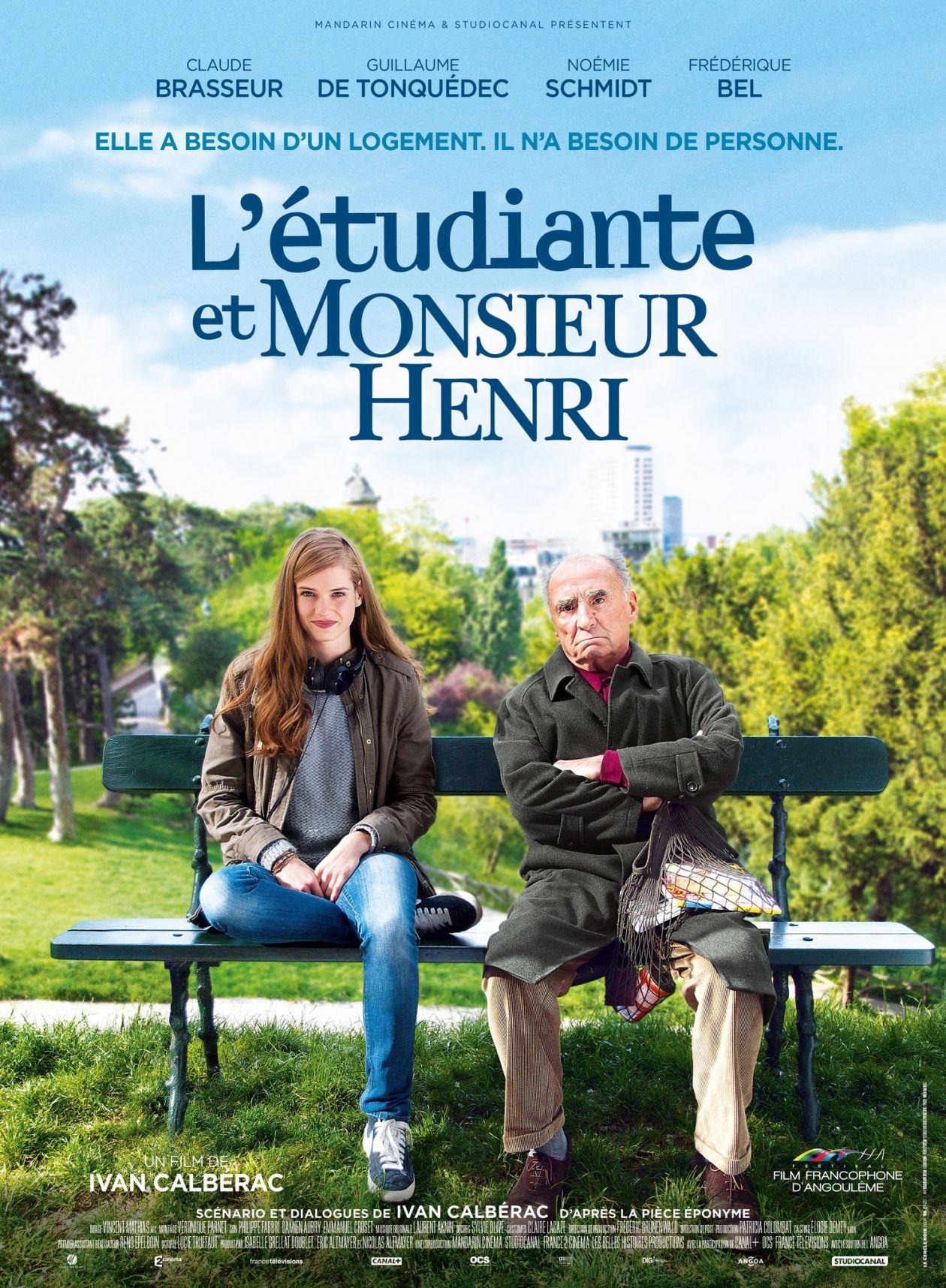 Noémie Schmidt actress actrice comédienne   L'Étudiante et Monsieur Henri / Ivan Calbérac 2015 Movie Poster Affiche film