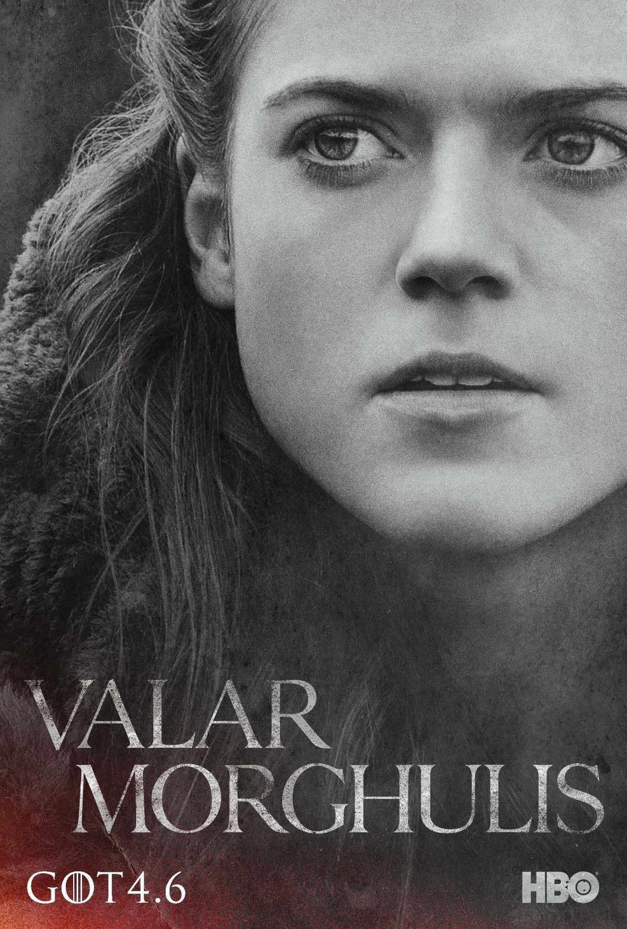 Rose Leslie actress / Game of Thrones / Ygritte / 2014 Season 4 Series Poster Affiche Série