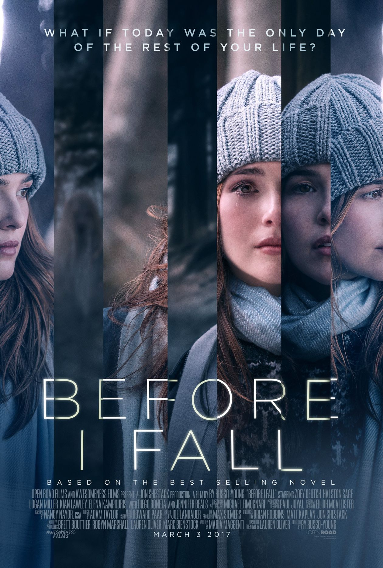 Zoey Deutch actress | Before I Fall / Le dernier jour de ma vie / Samantha Kingston | Ry Russo-Young 2017 Movie Poster Affiche film