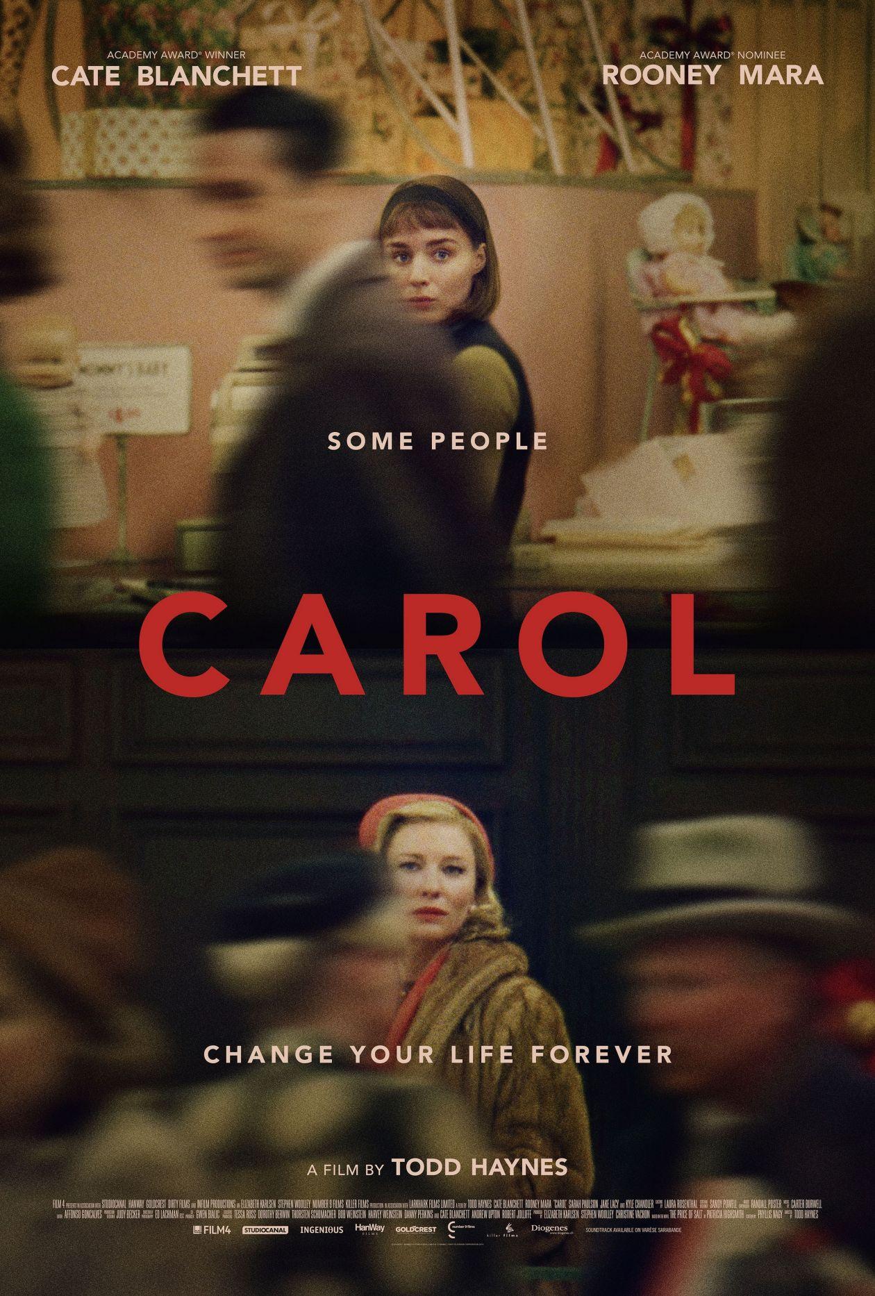 Rooney Mara   Cate Blanchett  Carol   Todd Haynes 2015 / Movie Poster / Affiche film