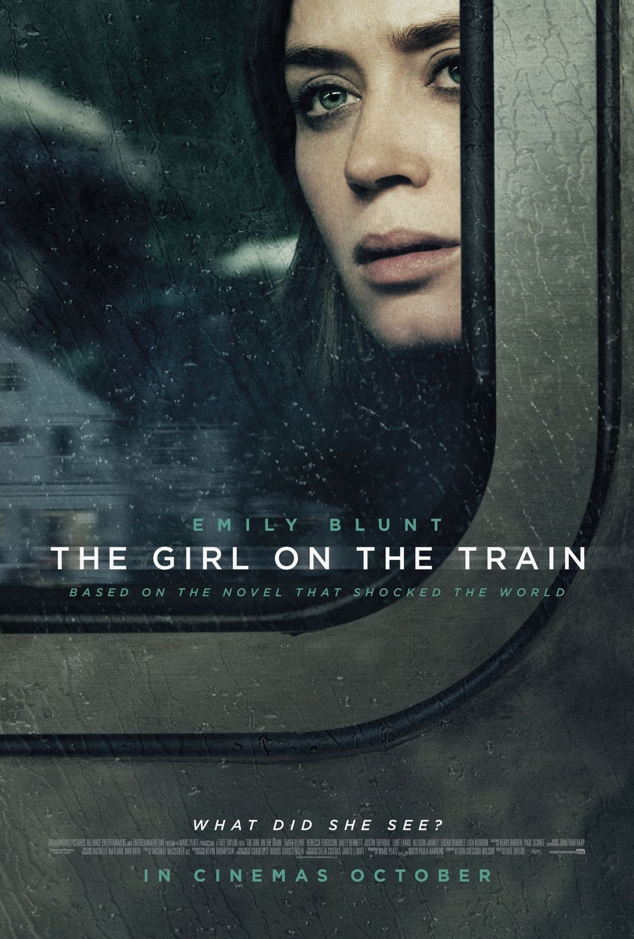 Emily Blunt actress | The Girl on the Train / Tate Taylor 2016 Movie Poster Affiche film