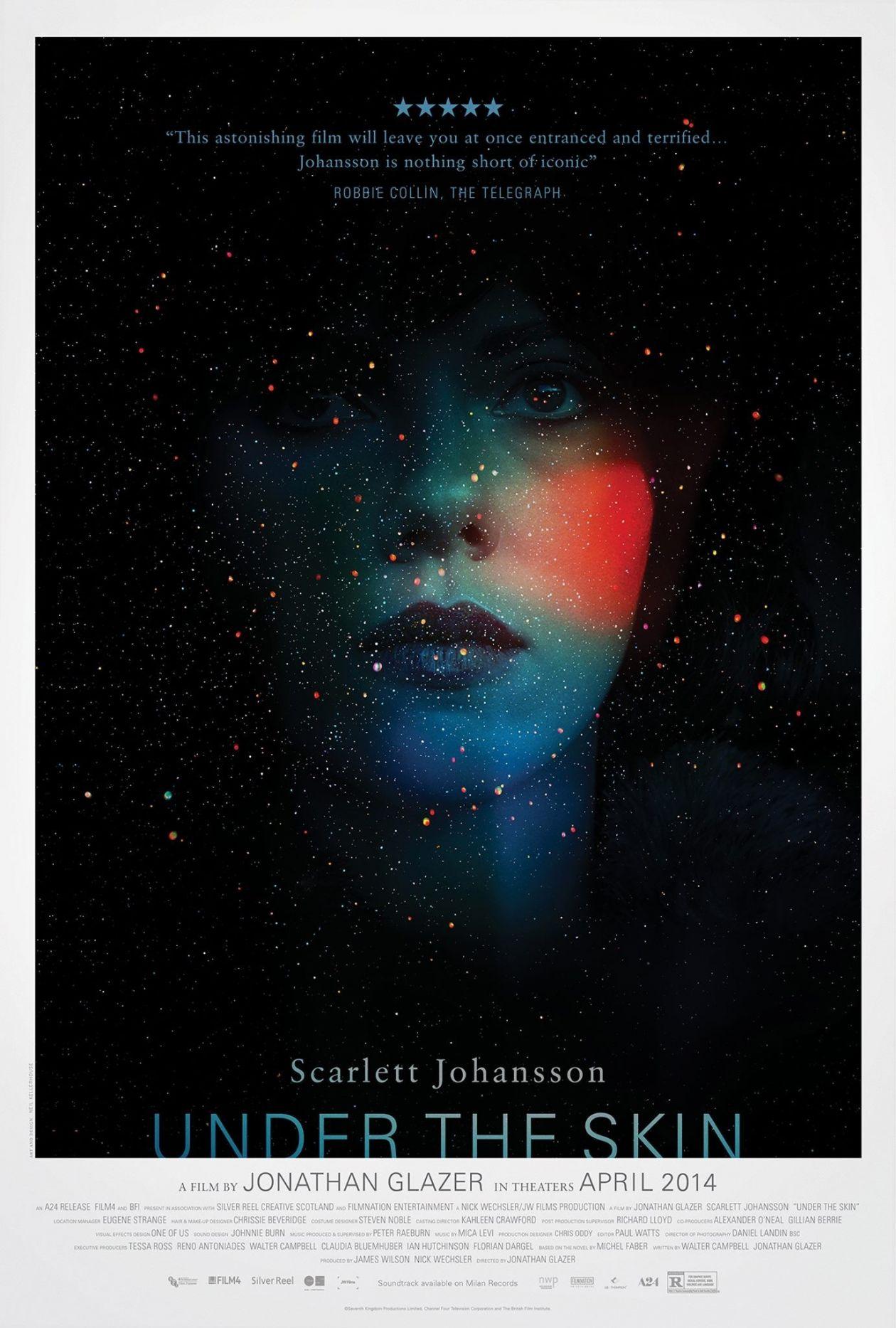 Scarlett Johansson   Under the skin   Jonathan Glazer 2013 / MOVIE POSTER / AFFICHE DU FILM
