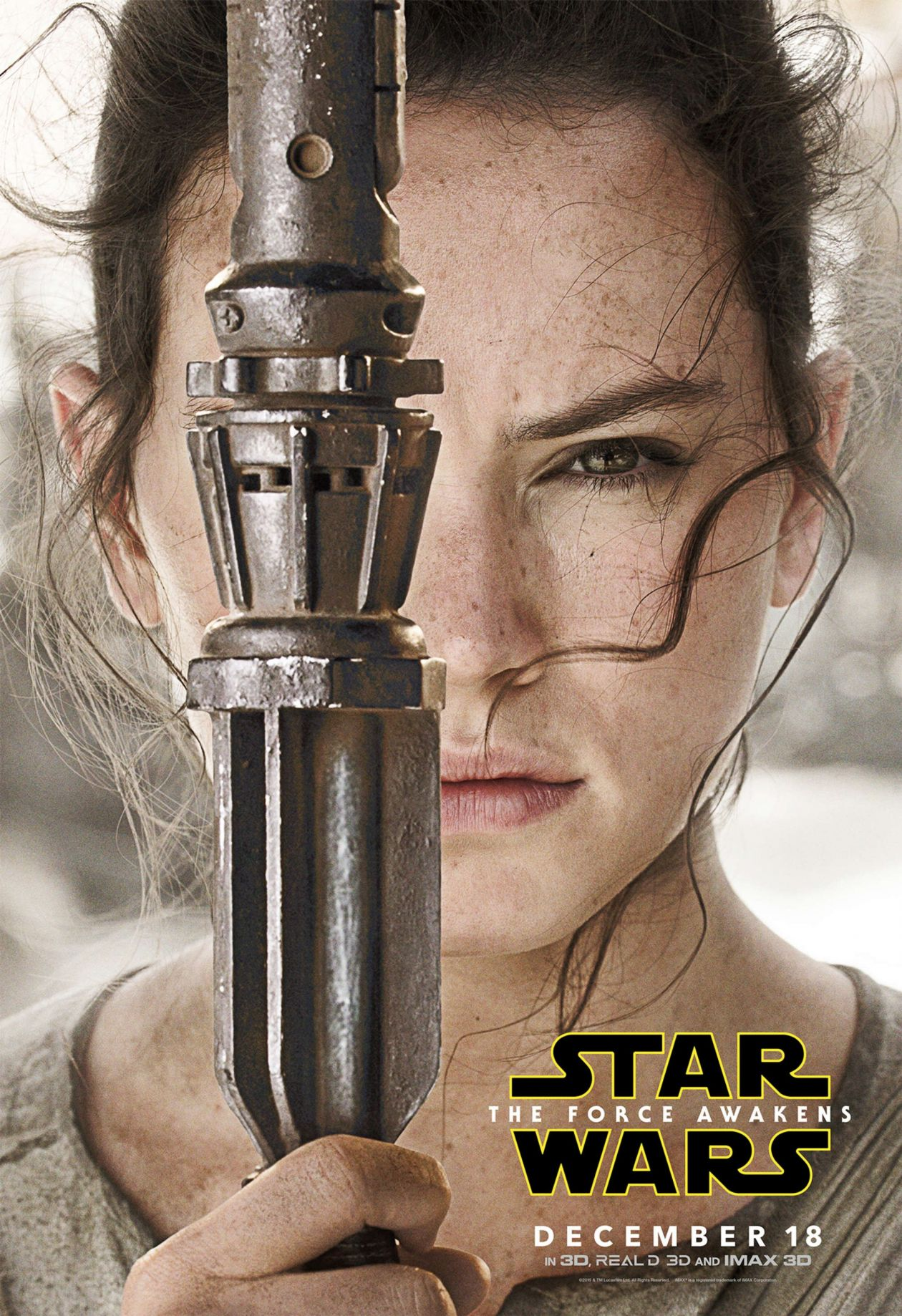 Daisy Ridley actress | Star Wars | The Force Awakens 2015 J. J. Abrams Movie Character Poster Affiche film personnage